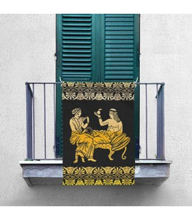 Banner Rest and Leisure in Classical Greece (70x100 cm.)