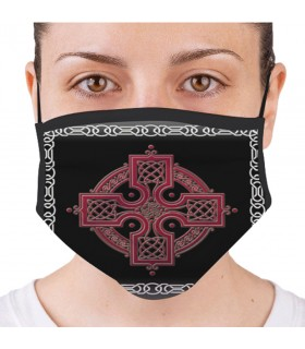 Mask Celtic Cross Reusable and Approved (for adults)