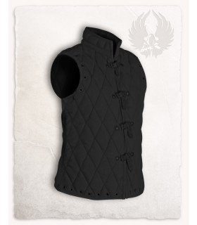Padded vest Arthur black sleeveless