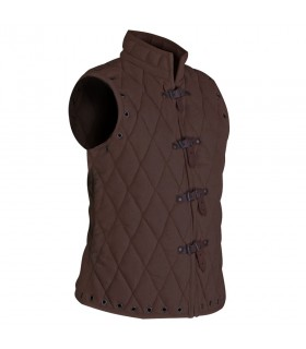 Padded vest Arthur brown sleeveless