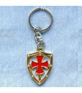 Keyring with the cross of the knights Templar