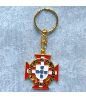 Keyring with the cross of the Knights of Christ