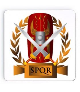 Coasters roman Legions SPQR on wood, 9 cm