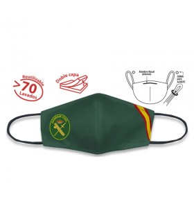 Face accessory green Civil Guard. Spain. Approved and reusable.