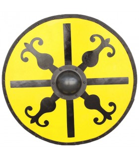Shield Medieval Round Windlass wood and steel
