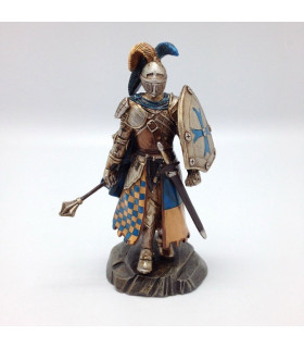 Miniature Medieval Knight with Mace and Shield (Height 12 cm)