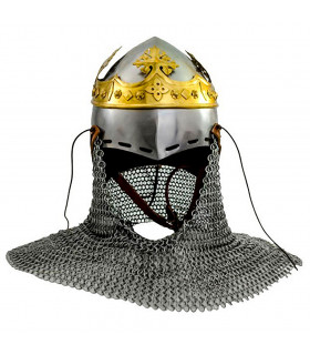 Medieval bastion Robert The Bruce with chainmail and King's crown, 14th century