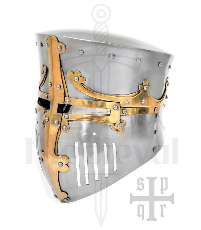 Primitive helmet of the Crusaders in 2mm steel. 12th-13th centuries