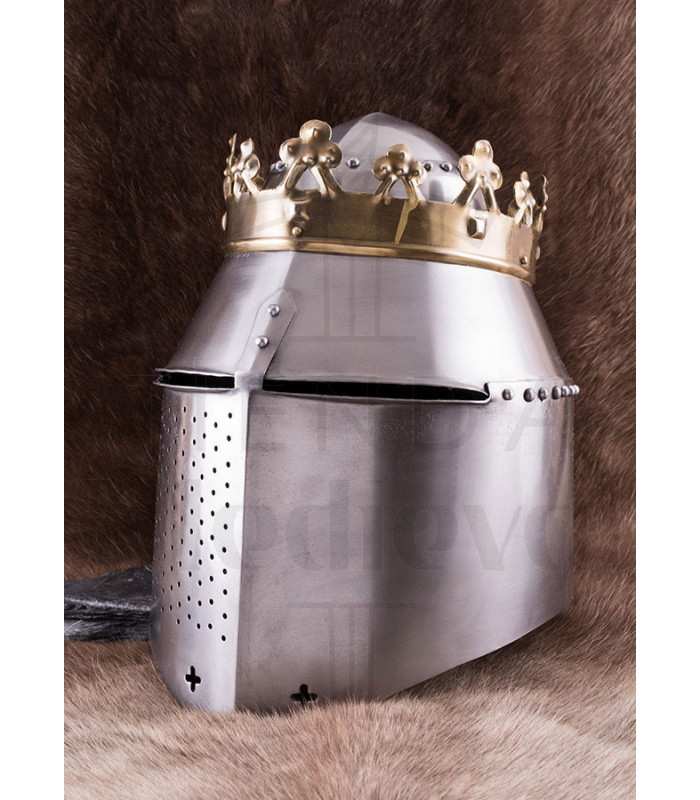 Great Helm of Battle with King's Crown