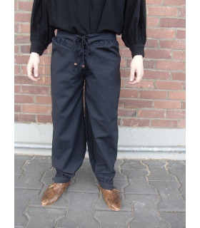 Gerold medieval trousers, black color