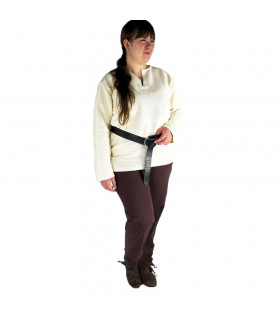 Arvo medieval trousers, brown color