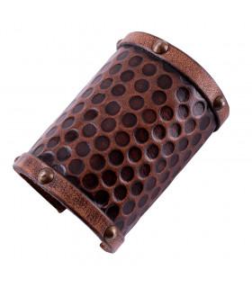 Leather bracelet for warrior, 1 unit, 10x20 cm.