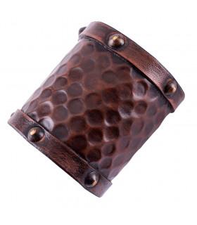 Leather bracelet for warrior, 1 unit, 8x19 cm.