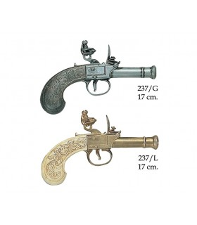 English pistol manufactured by Bunney, XVIII century