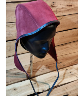 Crespina Rouland in Red leather