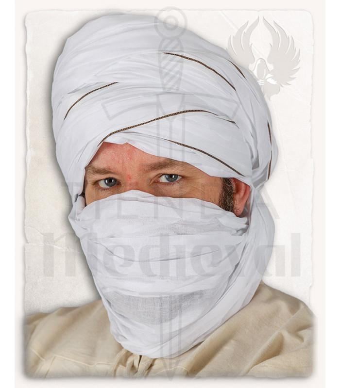 Authentic white Masud arabic turban