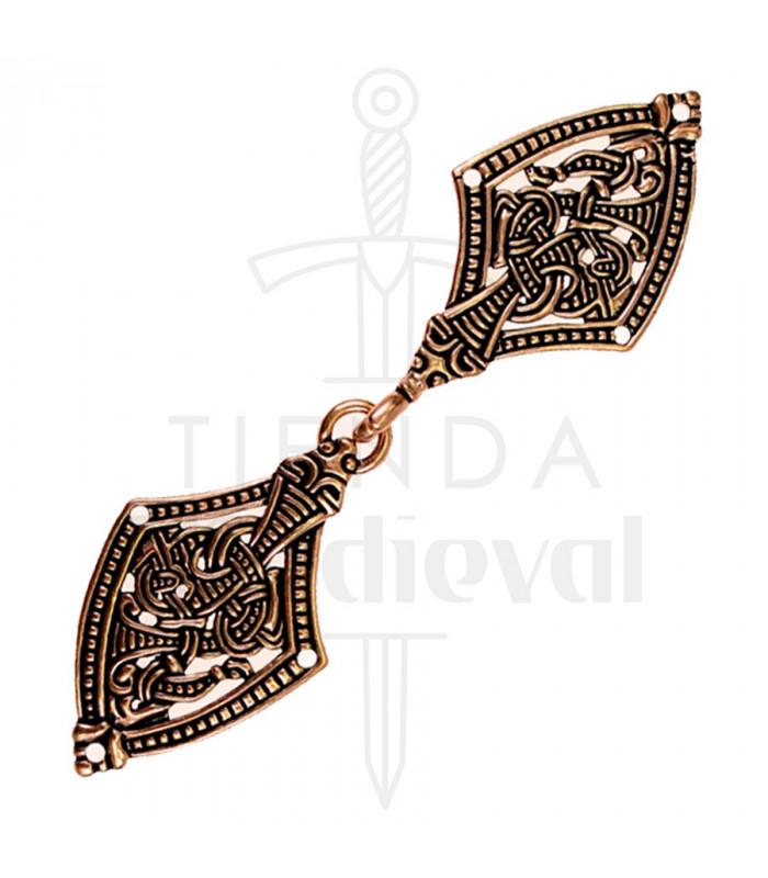 Viking cloak clasp Erase brass finish
