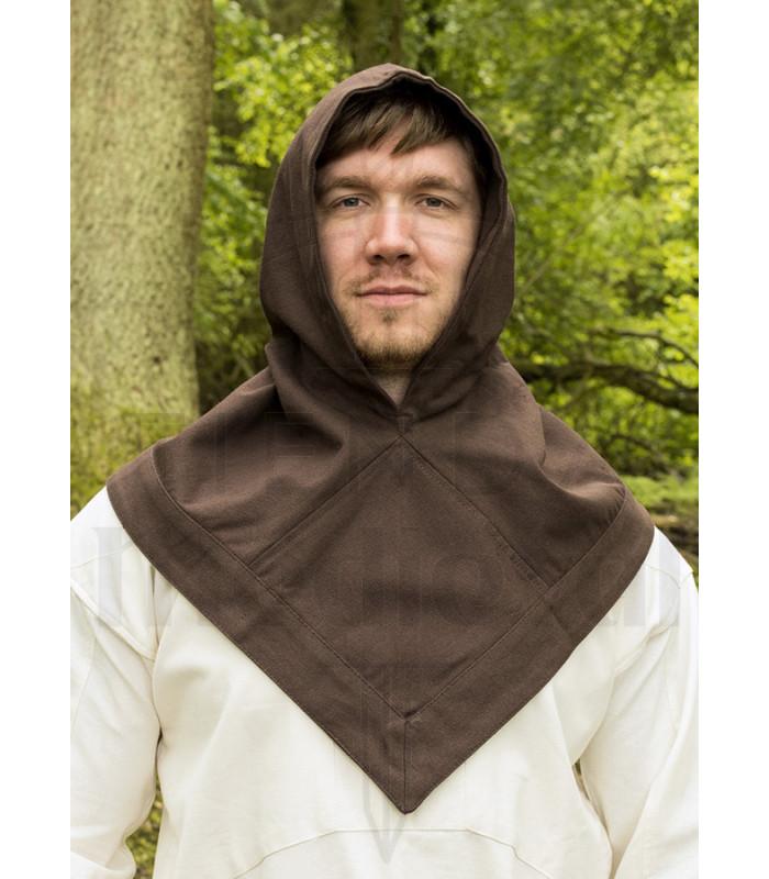 Gugel or Viking Hood Skjoldehamn brown