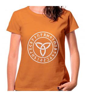 Trisqueta Celta Orange Woman T-shirt, short sleeve