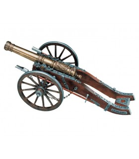 French cannon used by the troops of Louis XIV, XVIII century