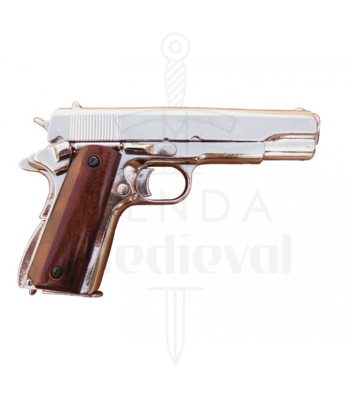 Nickel plated Colt .45 automatic, 1911