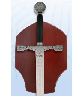 Excalibur sword with hanging bracket