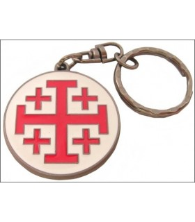 Keychain Cross of St. John of Jerusalem