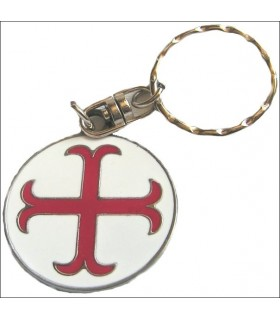 Templar Cross Keychain anchored