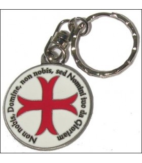 Templar Cross Keychain with legend