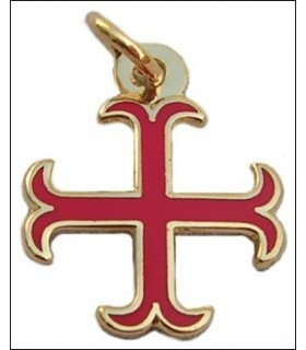 Templar cross pendant anchored