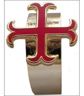 anchored cross Templar ring