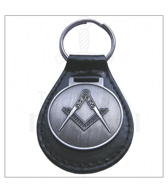 Masonic keyring in leather. Keychains - Accessories. Medieval Shop 378e3a7b8