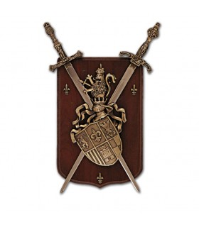 Coat of arms 2 Swords on ceiling (39x23 cm)