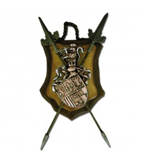 Weapons 2 spears shield (33,5x37)