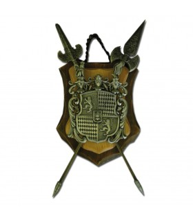 Coat of arms two spears (33,5x37)