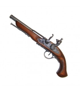 Flintlock pistol, the eighteenth century. (Left Handed)