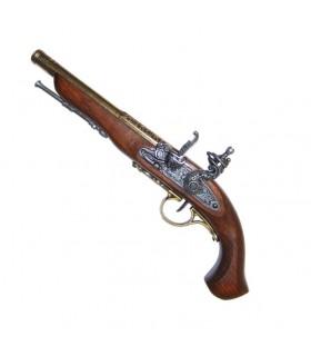 Flintlock pistol, XVIII century. (Left Handed)