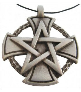 Templar cross pendant pentagram