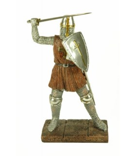 Figure Templar warrior fighting (24 cms.)