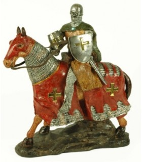 Templar Knight on horseback (31 cms.)