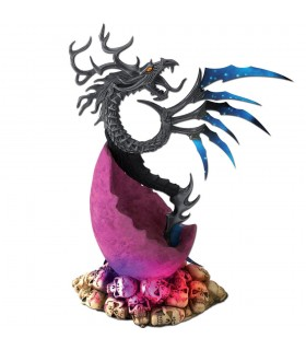Dragon with Skull stand (31 cms.)