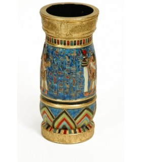 Egyptian blue-gold vase