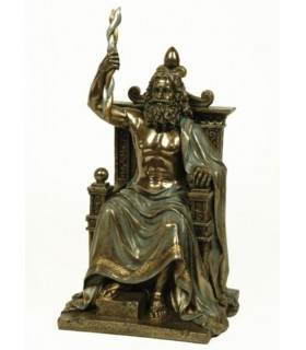 Figure of Zeus, king of the Greek gods, 30 cms.