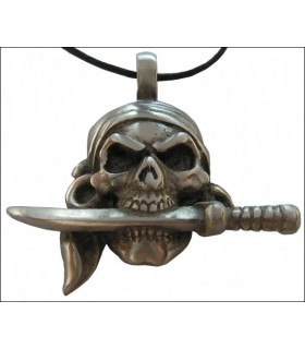 Pirate pendant knife in mouth
