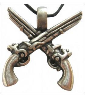 Hanging pirates pistols