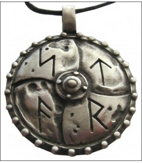 Viking pendant with runic letters