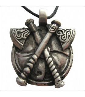 Viking axes cross pendant