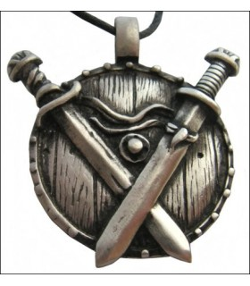 Viking pendant cross swords