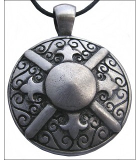 Greek shield pendant