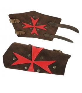 Red Templar Cross armbands malt